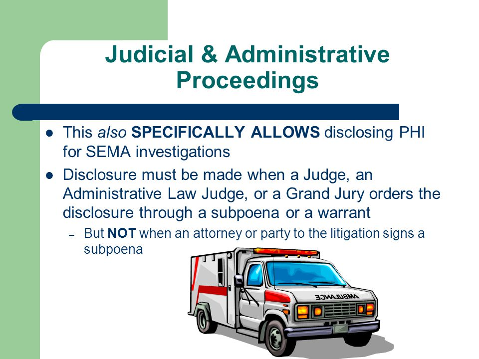 Disclosures Required by Law [Slide 1 of 2]